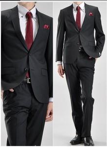 ブラックスーツ着こなし3