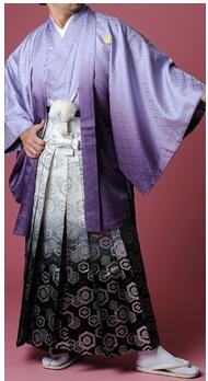 紋付袴パープル