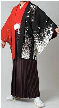 赤の紋付き袴1
