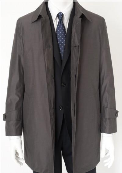グレー濃いめのスプリングコート2
