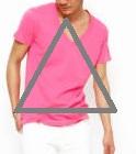 ピンク濃いめのTシャツメンズ
