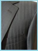 シャドーストライプのスーツ1