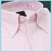 ピンクストライプワイシャツ