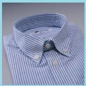 ブルーのストライプワイシャツ2