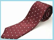 ボルドー色ネクタイ柄1