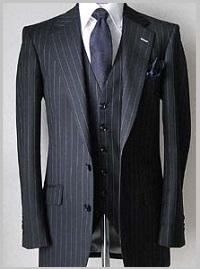 メンズのストライプスーツオッケーパターン1