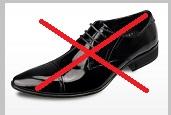 メンズ革靴ブラックエナメル
