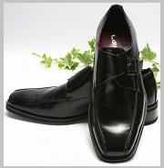 メンズ革靴ブラック2