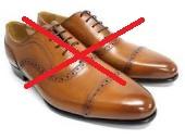 メンズ革靴茶色1