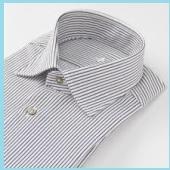 黒と白のストライプワイシャツ