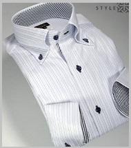 ストライプホワイトワイシャツ