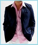 ピンクシャツジャケット