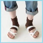 サンダル用靴下4