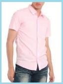 ピンク半袖とデニムイメージ
