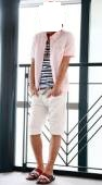 ピンク半袖シャツ2
