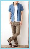 ブルーの半袖シャツ2