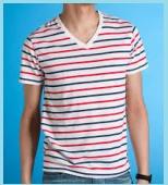 ブルーの半袖シャツ4