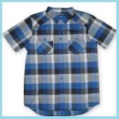 ブルーの半袖シャツ5