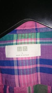 ユニクロリネン半袖シャツ2
