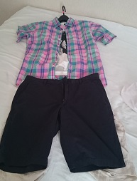 ユニクロリネン半袖シャツ6