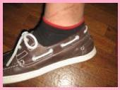 デッキシューズ靴下1