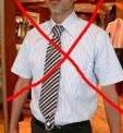 半袖ワイシャツネクタイ