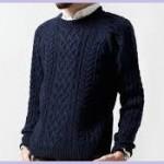 メンズネイビーセーター